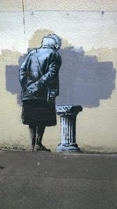 "Grafiti Banksy  ""Art Buff"""