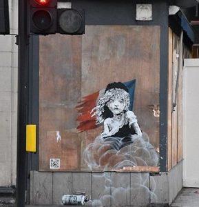 "Grafiti Banksy""Les Misérables"""