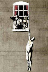 """Grafiti Banksy""""unfaithful woman"""""""