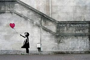 "Grafiti Banksy ""Girl with Balloon"""