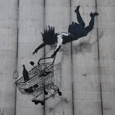 "Grafiti Banksy ""Shop until you drop"""